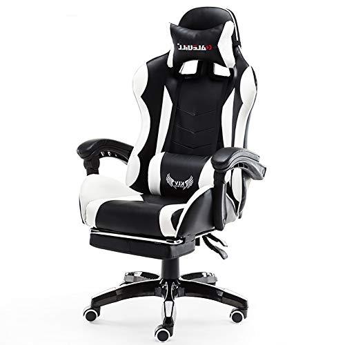 LSHUAIDJ Ergonomische E-sport stoel/spel uitvoering roterende computer stoel/race-stijl stoel/houten skelet, leer, schuim/sedentaire niet moe, comfortabel/toepasbaar: e-sport, kantoor