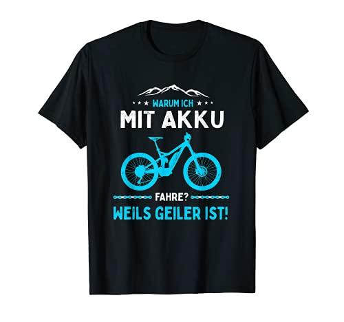 ¿Por qué comprarme con batería? Bicicleta eléctrica de montaña E-MTB. Camiseta