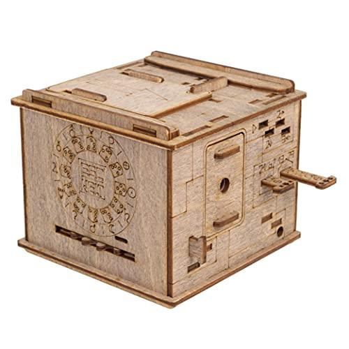 ESC WELT Space Box - Rätsel-Box für Kinder und Erwachsene - Das Highlight für Rätselfans! Magische Geschenkbox aus Holz