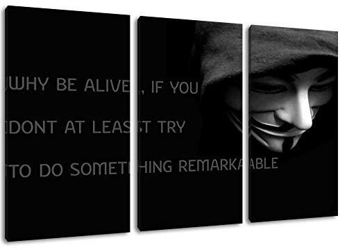 Dark Anonymous Price Dreiteiliges Gemälde Auf Leinwand Kunstdruck Auf Wandbild Poster Frameless Home Decoration