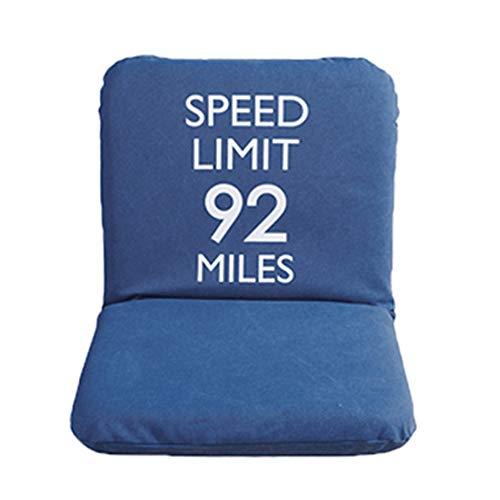 LJFYXZ Chaise de Sol Plier Individuel Fille Chambre Fauteuil Réglage à 5 Vitesses Facile à enlever et à Laver Confortable Chaise d'ordinateur (Couleur : Bleu)