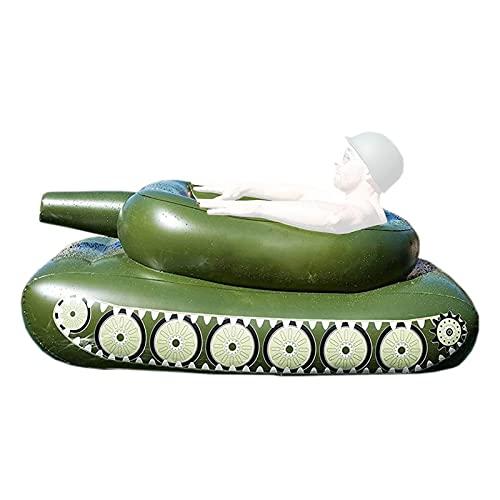 Exuberia Pool Aufblasbarem Tank Mit Wasserwerfer, Sprühwasser Panzer Schwimmsessel, Tank Pool Float Pool Wassersprühring, Aufblasbarer Pool Spielzeug Mit Spritzpistole Für Kinder Erwachsene