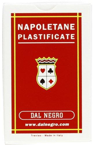 Dal Negro 10017 - Napoletane Carte da Gioco Regionali, Astuccio Rosso