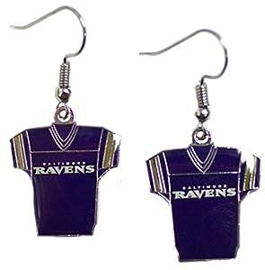 Baltimore Ravens Jersey Dangle Earrings