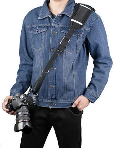 Cinghia Reflex, Sugelary Tracolla Fotocamera Compatta Nero in Nylon per Fotocamera Digitale Macchina Fotografica Canon Nikon Sony DSLR SLR Mirrorless (F-3 Tracolla Fotocamera)