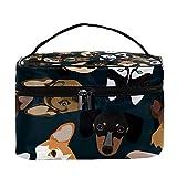 Pedigree - Bolsa de maquillaje para perros, bolsa de maquillaje grande, organizador de maquillaje, con cremallera, para mujeres y niñas