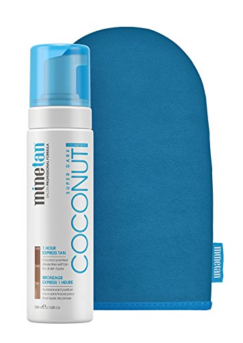 minetan Coconut Water Self Tan Foam and Bronze On Tanning Mitt Bundle