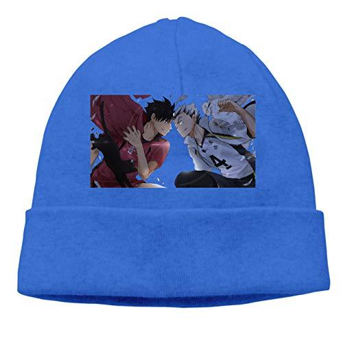 ZSXXTSMYXI Haikyuu!! Wallpapers Skull Cap Knitting Hat Beanie Cap Warm Winter Knit Hat Hedging Cap Blue