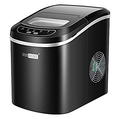 VIVOHOME Electric Portable Compact Countertop Automatic Ice Cube Maker Machine 26lbs/day Black ETL Listed