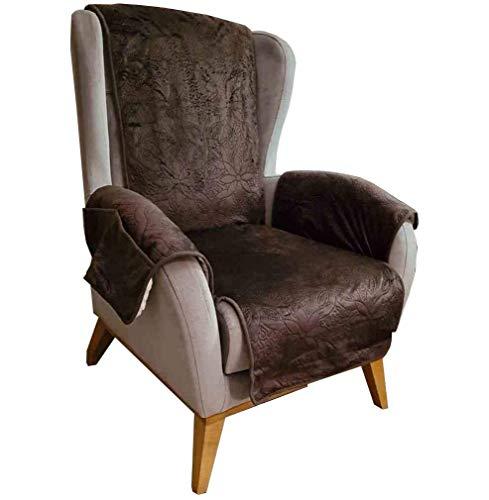 DecoHomeTextil Sesselschoner Sesselüberwurf Sesselhusse ca. 160 x 140 cm Anthrazit gesteppt