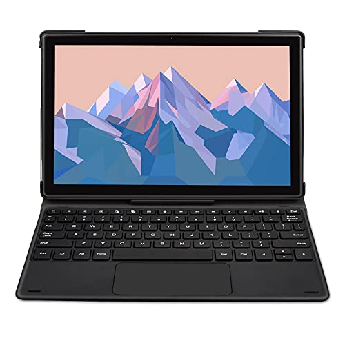 Tablet 10 Pollici con Tastiera Magnetica LNMBBS P60 Android 10.0, Octa-Core 2.0 Ghz, 128 GB, 4 GB RAM, 1920 * 1200 FHD, fotocamera da 13 MP + 5 MP, 4G LTE, Wi-Fi 5G, GPS, Face ID, Bluetooth 5.0, Nero