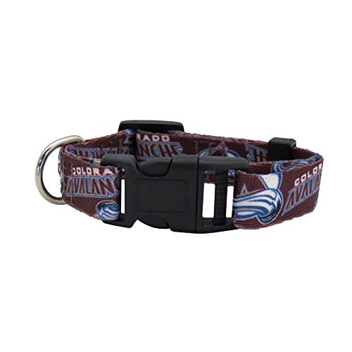 Littlearth NHL Colorado Avalanche Team Pet Collar, Large,Red