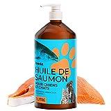 Inedit Huile De Saumon pour Chien Et Chat - 1Litre 100% Naturel - Santé Animal Huile De Poisson