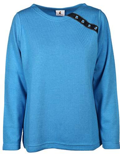 wind sportswear Damen Sweatshirt in Kastenform Größe 4XL Blau (blau)
