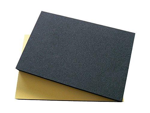 2 x EPDM Zellkautschuk 2mm Stärke 200mmx300mm einseitig selbstklebend schwarz