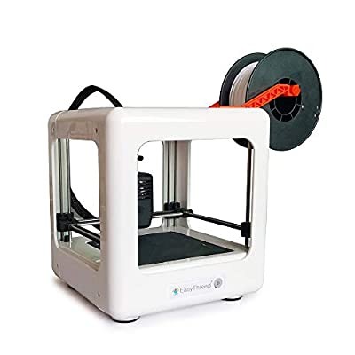 Easythreed Nano Mini 3D Printer with Removable Building Platform,Easy Operation for Kids,for Education,for Beginners,Family 3D Printing Set,Portable Best Gift for Children (White)