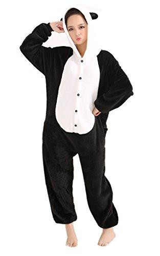LIHAO Pyjama Tieroutfit Panda Tierkostüme Onesie Schlafanzug Cosplay Halloween (Größe: L)