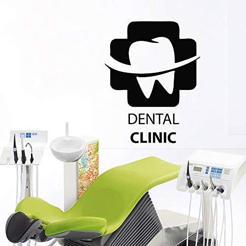 Creativo Clínica Dental Logo Cruz Etiqueta de la pared Arte Tatuajes de pared Mural Clínica dental Decoración de la habitación Diseño Dentista Cuidado dental Sonrisa Papel tapiz póster