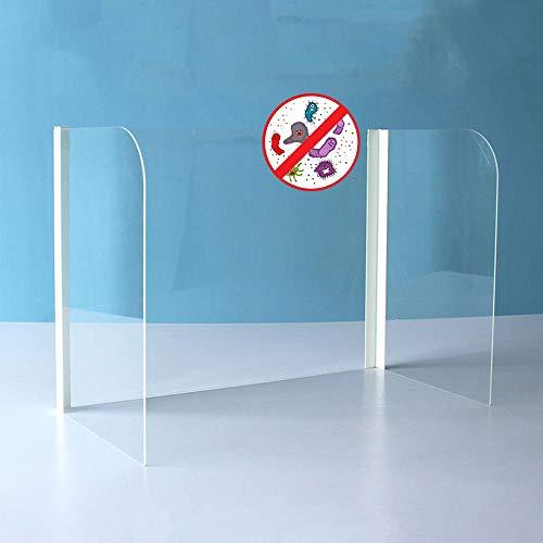 LYWL Sichtschutz für Schüler-Schreibtische, faltbar, tragbar, abnehmbar, für Schreibtisch, Büro, Schule, Bibliothek, durchsichtig, 40x40x60cm
