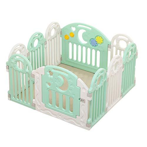 WTT Baby Play Fence, Valla de plástico para niños, Espacio de Juego al Aire Libre Portable Baby Park