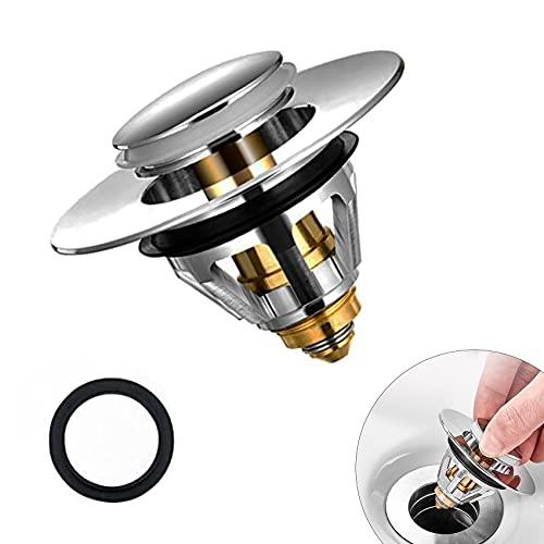 Tappo per lavandino, filtro Pop Up con filtro anti clogging, universale, per lavabo, per vasca da bagno, 38-43 mm