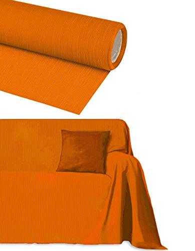 Byour3® Funda De Sofá Algodón 3 4 2 Plazas Tela Cubierta Sofa Cubre Todo Protector De Sofás También Por Forma De L U Chaise Longue Brazo Derecho Izquierdo Lavable Suave (Naranja, 2 Plazas)