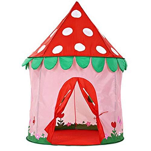 LAL6 Kinderzeltinnen-Jungenmädchenspielzeugschlossspielhaus Prinzessinhaus-Kinderzelt im Freien,Mushroom