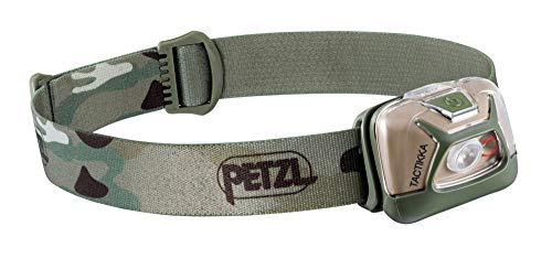 PETZL, TACTIKKA Stealth Headlamp with 300 Lumens for Fishing and Hunting, Camo