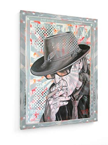 weewado Diedel Heidemann - 80`s Icons - Mr. Lindenberg - Uns UDO 30x40 cm Leinwandbild auf Keilrahmen - Wandbild, Poster, Kunst, Gemälde, Foto, Bild auf Leinwand - Menschen