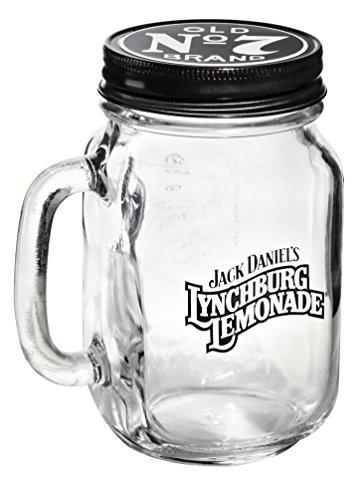 Jack Daniels Lynchburg Lemonade Glas mit Schraubdeckel und Henkel