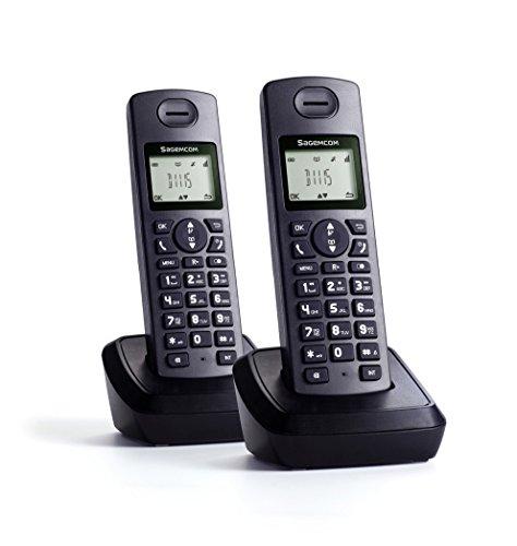 Sagemcom d1115duo–Telefono Fisso, Colore: Nero