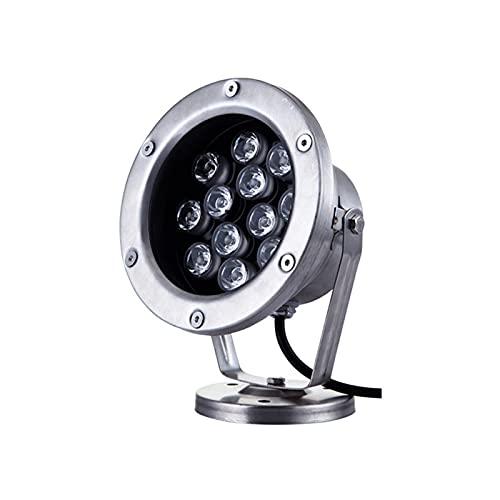 ASPZQ LED-Teichleuchte Im Freien IP68 Wasserdicht LED Brunnenlicht AC / DC12-24V Schwimmbadlampe Dekorative Beleuchtung (Color : Red Light, Size : 36W)