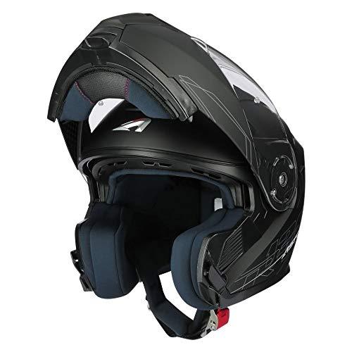ASTONE, Casco modulare moto RT1200 evo nero opaco, XL