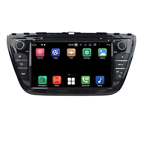 Android 10.0 Autoradio Navigazione GPS per Suzuki SX4 S-Cross(2014-2020), 8 Pollici Touchscreen Lettore DVD Radio Bluetooth