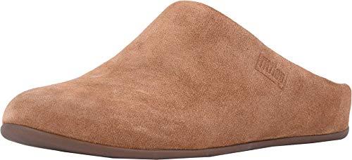 FitFlop Damen Chrissie Shearling Pantoffeln, Braun (Tumbled Tan 645), 36 EU