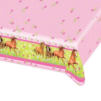 PARTY DISCOUNT ® Tischdecke 120 x 180 cm mit Pferd Motiv