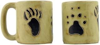 One (1) MARA STONEWARE COLLECTION - 16 Oz Coffee Cup Collectible Mug - Bear & Wolf Paws Design