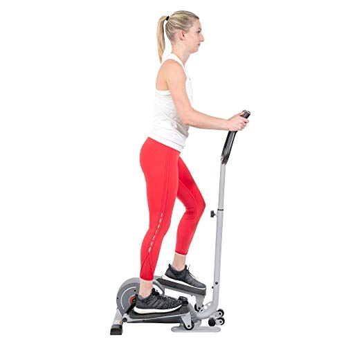 Product Image 2: Sunny Health & Fitness Magnetic Standing Elliptical with Handlebars – SF-E3988, Grey