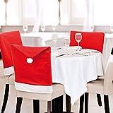 CHENGZI Paquete de 4 fundas para sillas de comedor con gorro de Papá Noel, para Navidad, decoración de sillas de mesa