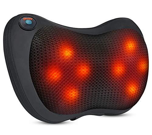 Massagekissen,SHCONG Shiatsu Massagekissen mit Wärmefunktion Elektrische Massagegerät Nacken massagegerät Bidirektionales Knetendes Muskelschmerzen Erleichterung für Nacken Schulter Rücken Taille