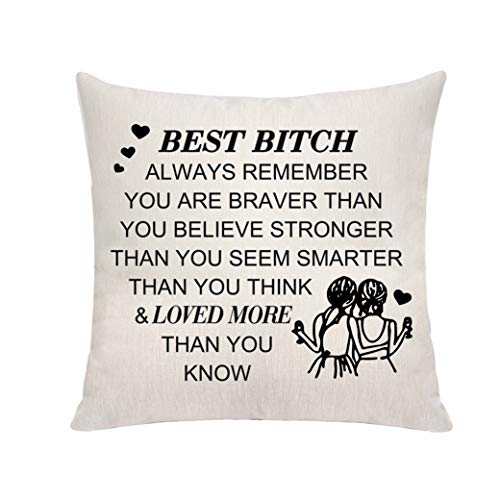 VAVSU Inspirational Birthday Gifts for Best Friends Beige-Color Square...