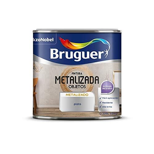 Pintura metalizada para paredes Bruguer (Plata) 1L