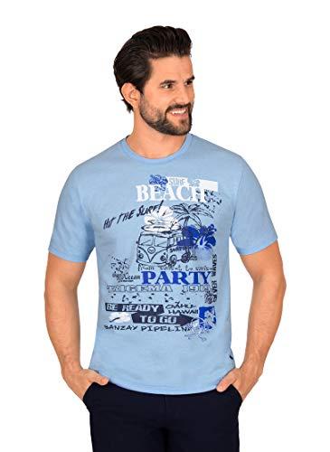 Trigema Herren Herren T-Shirt mit angesagtem Surf-Motiv