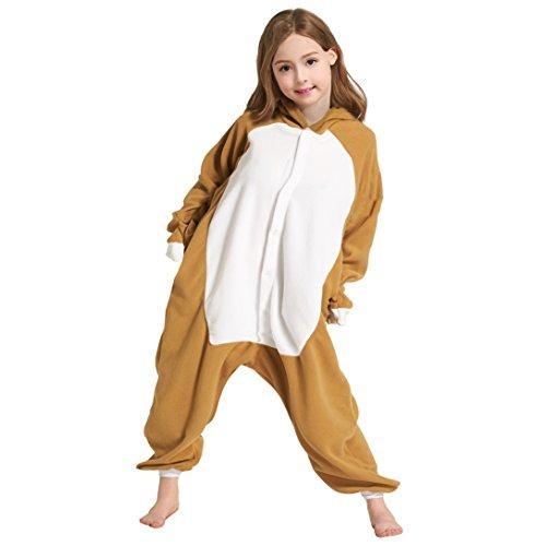DarkCom Niños Unisexo Animale Pijama, Cosplay Animales de Vestuario Ropa de Dormir Halloween y Navidad Flanela Cartoon Onesies elPerezoso