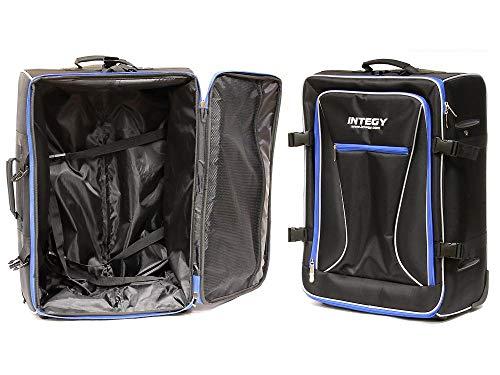 Integy RC Model Hop-ups C24007BLUE Team Integy Hauler Carrying Bag w/Trolley Wheels & Handle L23 W17 H10 in.