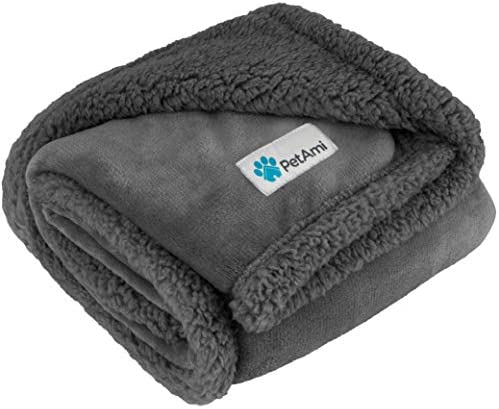 PetAmi Waterproof Dog Blanket for Medium Dogs Puppies Small Cats Soft Sherpa Fleece Pet Blanket product image