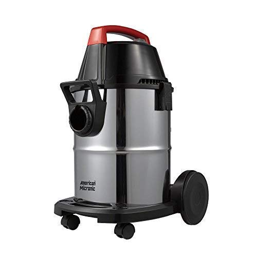 American MICRONIC AMI-VCD21-1600WDx- 21 Litre Stainless Steel Wet & Dry Vacuum Cleaner with Blower, 1600 Watts (Red/Black)