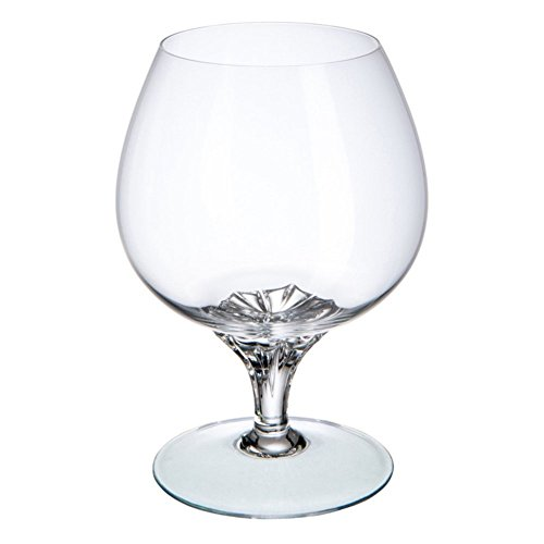 Cristal de Bohemia Nevada Copas de Coñac, Cristal, 6x6x13.5 cm, 6 Unidades