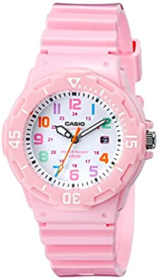 Casio Women's LRW-200H-4B2VCF Pink Stainless Steel Watch with Resin Band from Casio