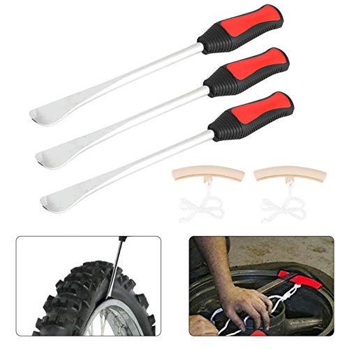 Cambiar motocicletas palanca de neumáticos palanca profesional cuchara palanca de neumáticos duradera con protectores de llanta resistente para accesorios de coche